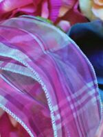"""Purple Plaid Ribbons 5 Yards 2 1/2"""" Wide Wired Crafts Wedding Birthday Gift Bows"""