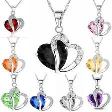 Modeschmuck-Halsketten & -Anhänger aus Stein und Metall-Legierung mit Zirkonia-Perlen