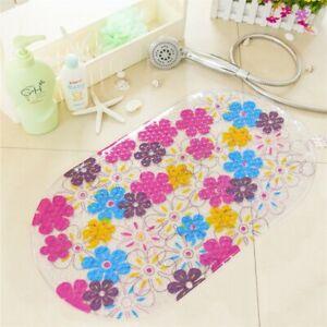 Non Slip Shower Mat Colorful Floral PVC Non- Slip Bathtub Mat Toilet Floor Mat
