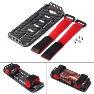 For 1/10 Crawler RC Axial SCX10 Battery Carbon Fiber Mounting Plate Tray New