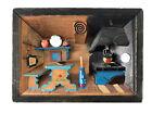Vintage GERMAN Diorama SHADOW BOX Kitchen HANDMADE Folk Art 3-D WALL ART Europe