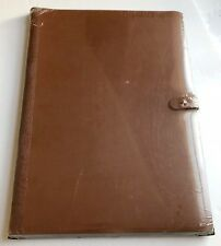 "Prat Pampa Press Book, Album, Portfolio, Leather 17"" x 11"" w 20 Sheet Protectors"
