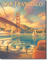 San Francisco Sign Travel Poster Golden Gate Vintage Metal Advertising Tin New