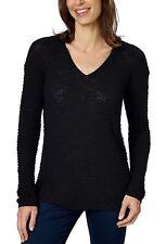 347e71da5c Calvin Klein Jeans Ladies Black Textured Cotton Sweater Large