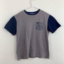 Disney Parks Authentic Original Mens Gray Blue T Shirt With Pocket Size Medium M