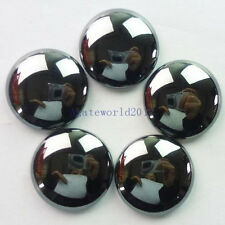 5Pcs Beautiful Hematite Round CAB CABOCHON 25x6mm W0054865