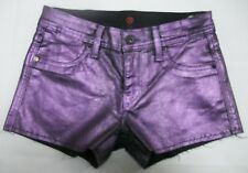 "Sinclair MFGRP Womens Shorts Waist 26"" W1 Shiny Metallic Purple $159 USA 5677"