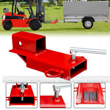 2 Clamp On Forklift Hitch Receiver Pallet Fork Trailer Towing Adapter With Chain