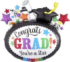 """Congratulations Graduation Party Grad 29"""" Giant Helium Foil Balloon Decoration"""