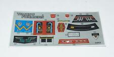 Smokescreen Sticker Decal Sheet Stickers G1 Transformers 1985 Vintage Hasbro
