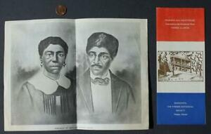 1960s Era Thebes,Illinois Dred Scott Sites TWO brochure set-Slavery & Lincoln!*