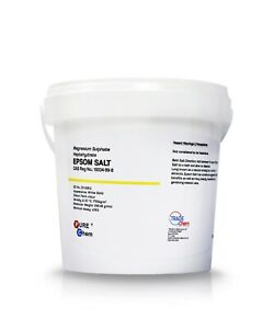 Epsom Salts in Safety Tub - Food Grade -  Magnesium Sulphate Bath Salts 500g-5kg