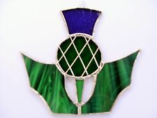 Stained Glass Thistle Suncatcher(E)