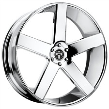 """1-Dub 1Pc BALLER Chrome Plated 24x10"""" Rims Ford F150 Expedition/Lincoln6x135 +31"""