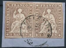 Switzerland  Sc 25  PAIR USED  VF