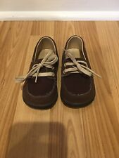 Boys Toddler 6 Loafers Boat Shoes Brown Slide On Sandal