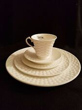 Aynsley BELLEEK BASKETWEAVE 5 Piece Place Setting NEW WITH TAGS