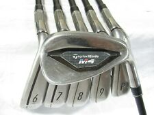 Used RH TaylorMade M4 Iron Set 6-P,A Regular Flex Graphite Shafts