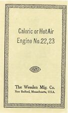 Caloric or Hot Air Engine No. 22 & 23 [BOOKLET]  - New Softcover Copy - USA