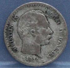 Denemarken - Denmark 10 Ore 1874 Cristian IX - Silver - KM# 795.1
