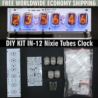 DIY KIT IN-12 Nixie Tube Clock with Acrylic Stand [WITH TUBES] FREE SHIPPING