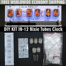 DIY KIT IN-12 Nixie Tubes Clock with Acrylic Stand [WITH TUBES] FREE SHIPPING