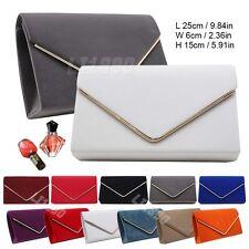 Womens HandBags Velvet Clutch Bag Envelope Metallic Frame Evening Bridal Bag
