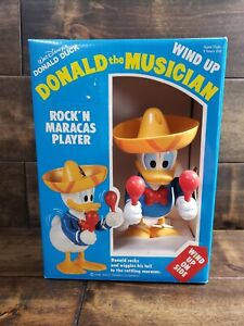 Disney Wind Up Toy Donald Duck The Musician Rock'n Maracas Player Brand New