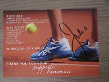Julia Görges original handsignierte Autogrammkarte / Tennis  TT5