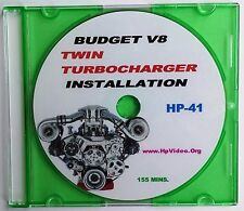"Budget Twin Turbocharger Install Any V8 1000 HP+  ""How to"" Video DVD SBF SBC"