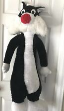 Looney Tunes Plush Sylvester the Cat 4' Giant Large Tuxedo Cat Rare Warner Bros