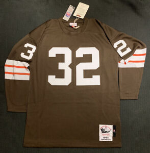 Mitchell & Ness Cleveland Browns Jim Brown 1964 Long Sleeve Authentic Jersey L
