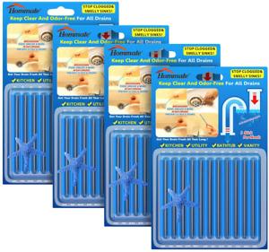 48 pcs Drain Sticks Drain Stix Sink Sticks Drain Cleaner Drainstix NEW