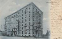 VINTAGE POSTCARD WASHINGTON HOTEL NEW YORK CITY POSTED 1907 ON UNDIVIDED BACK