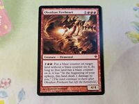 Obsidian Fireheart FOIL Zendikar NM Red Mythic Rare MAGIC MTG CARD ABUGames
