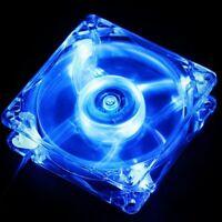 14cm 140mm Blue LED 12V 4Pin 140x140x25mm DC Computer Cooling Industry Fan 14025