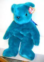 #4901 NWT Retired Ty Teal Teddy Bear Beanie Buddy Plush