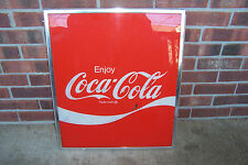 "VINTAGE COCA COLA VENDING MACHINE SIGN INSERT 23 3/4"" X 20 1/2"""