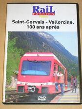 RARE DVD DOC / RAIL PASSION / SAINT GERVAIS-VALLORCINE 100 ANS APRES / TR B ETAT