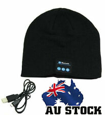 Wireless Bluetooth Warm Soft Beanie Hat Smart Headset Headphones Speaker Black