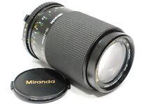 Olympus OM fit Miranda 70-210mm f/4.5-5.6 Zoom lens, fits OM or M1 camera