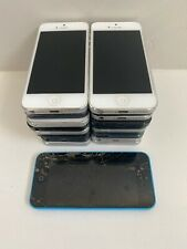 21x Lot Apple iPhone 5 / 5C 16GB 32GB 64GB Mixed Carrier With Issues 4F Black