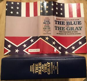 The BLUE & The Gray HCDJ 1982 1st 2 Volumes in 1 Henry Steele Commager Civil War