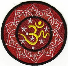 iron on Patches embroidered Patch Om Aum Sign Hindu Buddhist Karma -a5i2