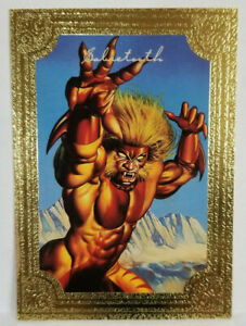 SABRETOOTH Limited Edition Marvel-Boris Gold Foil Card #4 of 6 NM.