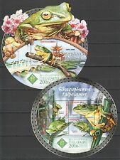 ST897 2016 GUINEA-BISSAU REPTILES FAUNA FROGS PHILATAIPEI KB+BL MNH STAMPS