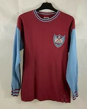 West Ham United L/S Home FA Cup 1964 Football Shirt Adults Small Score Draw C221