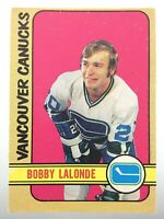 1972-73 Bobby Lalonde Vancouver Canucks 217 OPC O-Pee-Chee Hockey Card R995
