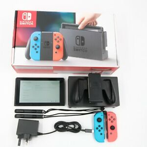 Nintendo Switch Console Blue & Red Joy-Cons Complete with Box, Dock, Charger etc