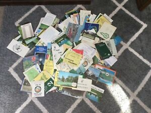 APROX. 250 GOLF SCORE CARDS FROM USA COURSES 1970/80s